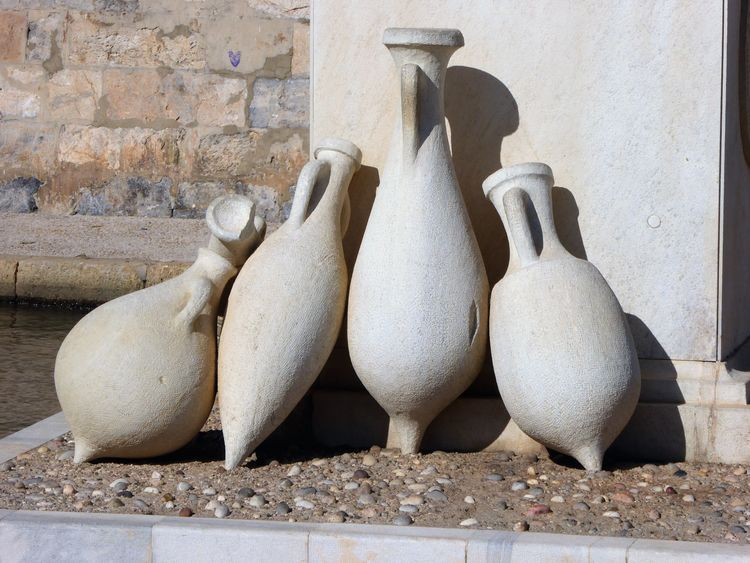 replica Roman pottery Amphoras EyeEm Selects Cartagena Roman Pottery Close-up Art And Craft Sculpture Travel Destinations Day Outdoors