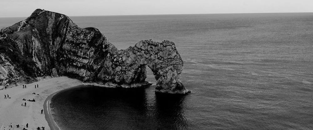 Durdle Door Black & White Travel Photography Travel