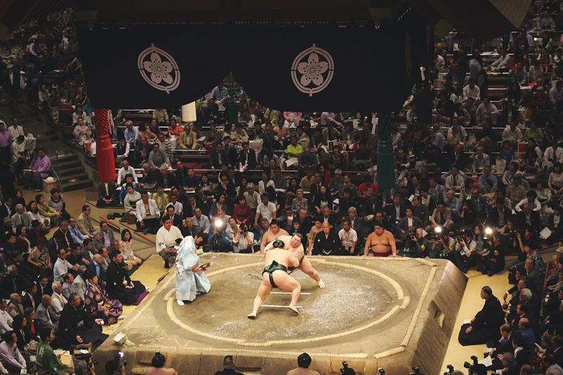 [ Ryogoku Kokugikan ] Biggest and most famous sumo tournament from all Japan. It happens only once a year in Tokyo (in May). Tradition, fighting spirit, public devotion. Everything is there to have an amazing time, totally immerged under the Japanese culture. Ultimate Japan Tokyo Japan Japanese Culture Japanese  Sport Wrestling Wrestling Tournament Fight Fighting Sumo Fighter Crowded ASIA Asian Culture Sumo Fight Showcase June Wanderlust Traveling Engagement Traditional Tradition Traditional Culture