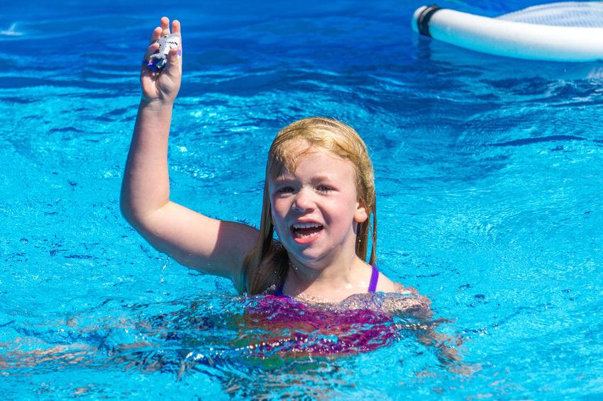Children Fun Swimming Childhood Leisure Activity Lifestyles Outdoors People Splash Summer Swimming Pool Water