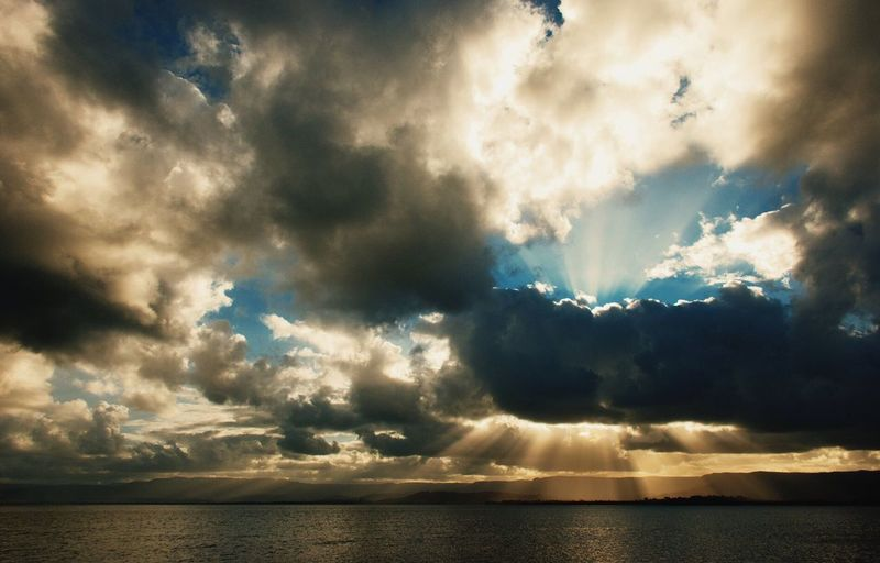 Beauty In Nature Sky Cloud - Sky Waterfront Cloudy Majestic