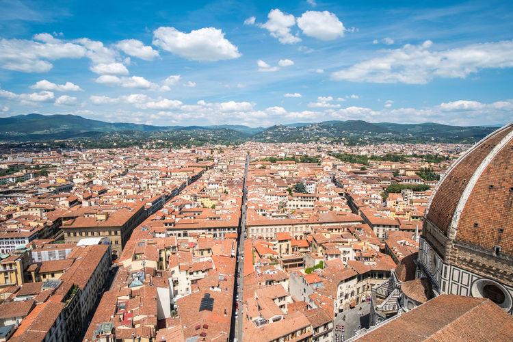 Florence Duomo Florence Italy Architecture Building Exterior Built Structure City Cloud - Sky Cityscape Residential District Building Sky High Angle View Nature Day Roof Crowded Crowd Town History The Past Community TOWNSCAPE Outdoors Roof Tile