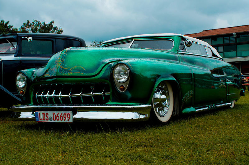 Old-fashioned Retro Styled Abandoned Car Green Color Sky No People Outdoors Day Transportation Carporn Freshness Reflection Clean Rainy Days Sony A6000 Motorshow Travel Motors Glien Berlin, Germay Oldtimertreffen Oldtimer Car Show Racecar Summer Exploratorium