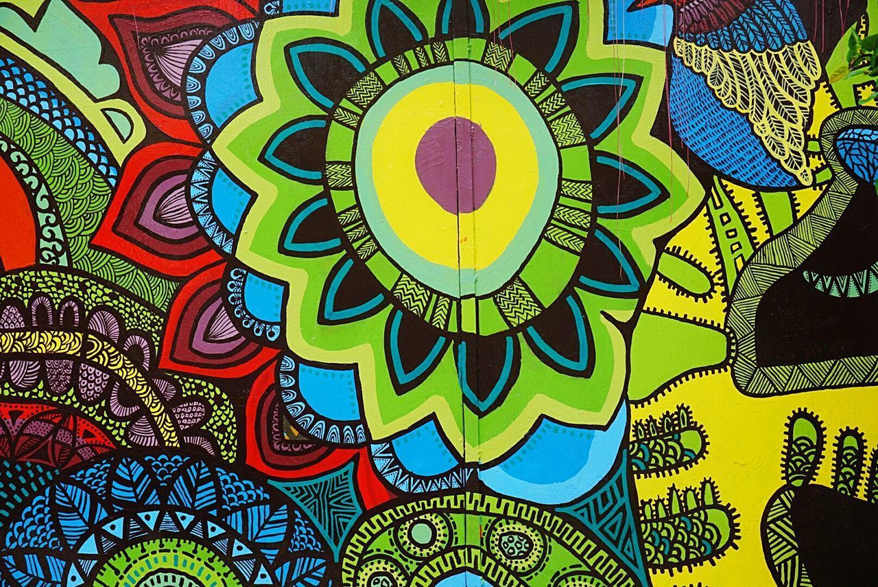 multi colored, art and craft, full frame, backgrounds, creativity, pattern, design, no people, day, outdoors, close-up