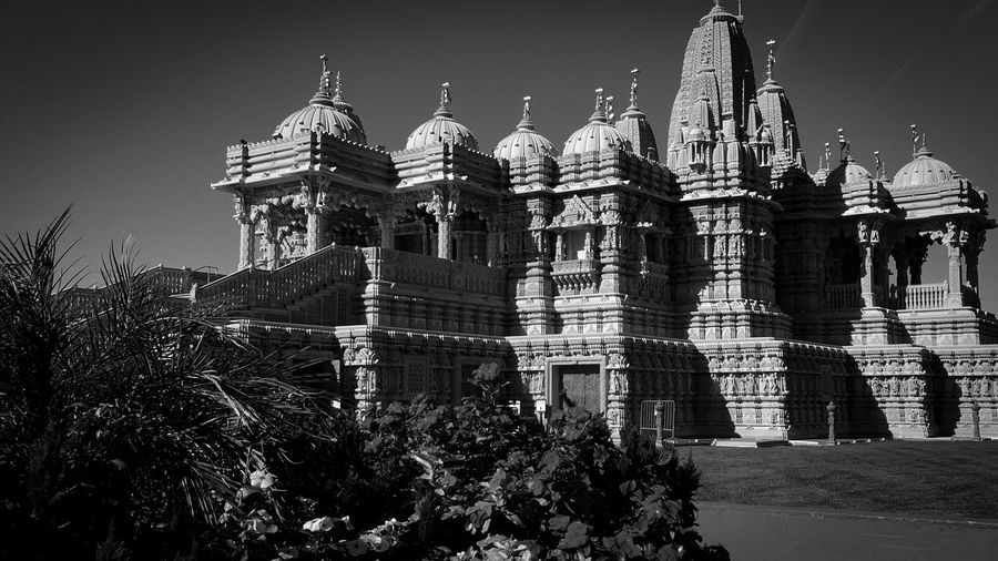 Monochrome Photography BAPS Shri Swaminarayan Mandir Hindu Temple Eye4photography  Built Structure Architecture Place Of Worship Spirituality Leisure Activity Enjoying The View