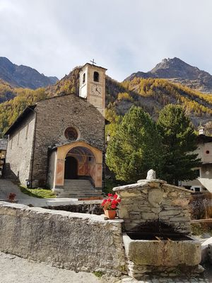 Mountain Village Mountain Church Stone Buildings Fountain Old Village Mountain Piedmont Italy History Built Structure Architecture Building Exterior Day No People Ancient Outdoors Sky
