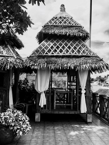 Nipa Hut Breathing Space Architecture Architecture Building Exterior Sky Built Structure Day Outdoors No People Travel Destinations Eyeem Philippines Investing In Quality Of Life The Great Outdoors - 2017 EyeEm Awards Travel Photography EyeEm Nature Lover EyeEm Best Shots Hello World Blackandwhite