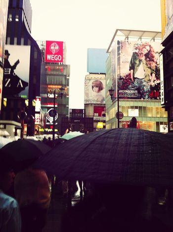 雨の心斎橋筋