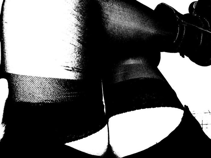 Legsselfie Socksporn Black & White