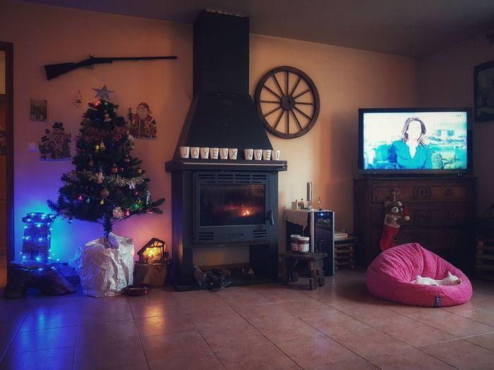 Home sweet home.. ☃💙☃💙 Winter Indoors  Fireplace No People Living Room Day Home Showcase Interior