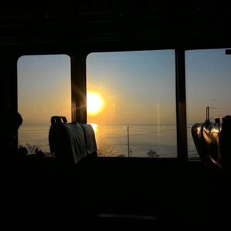 Sunset Sea Horizon Over Water