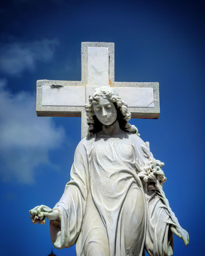 Sky Statue Sculpture Outdoors Cementery No People Day Puerto Rico