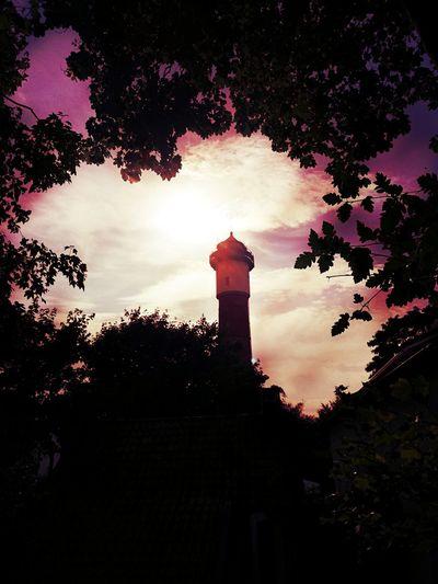 Leuchtturm Wangerooge P10lite HUAWEI Photo Award: After Dark Tree Silhouette Clock Tower History Sky Architecture Building Exterior Built Structure Cloud - Sky