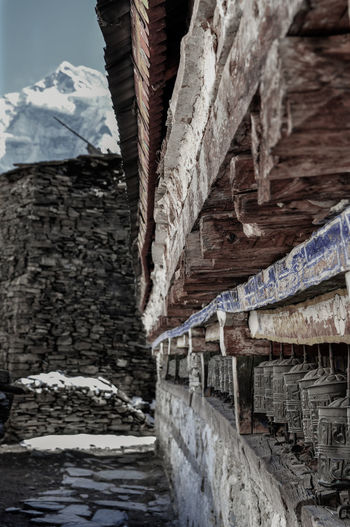 Buddhism Tibet Nepal Travel Religion Trekking Annapurna Conservation Area Rock Face Mountain Ancient Civilization Rock - Object Architecture Built Structure My Best Travel Photo Historic Ancient History