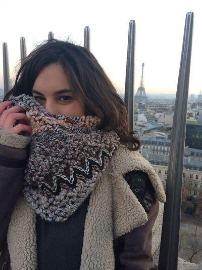 Paris Paris Reflection Looking At Camera City Beautiful Woman Warm Clothing Only Women Love Tranquility Sunset Fashion Glamour Paris ❤ Paris Je T Aime