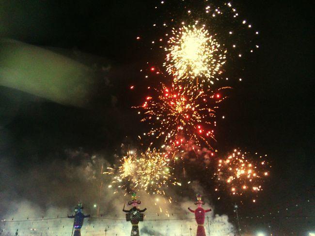 dussehra celebration Dussehra Celebration Ravan  Burning Fireworks Victory Over Evil Diwali Explosive Sparkler Sparks Firework Entertainment