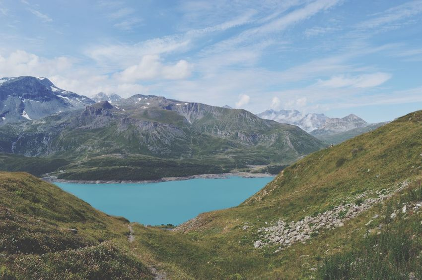 Lac Du Moet Cenis Mont Cenis France Italy Border Alpes View