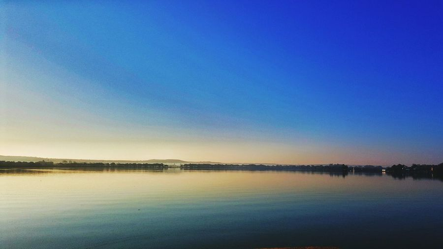 Blue Water Clear Sky Nature Beauty In Nature Tranquility Tranquil Scene Sky Sunset No People Scenics Outdoors Day Morning Lake View Path 😍😌😊 Morning Light Morningtime Been There. Lost In The Landscape Connected By Travel