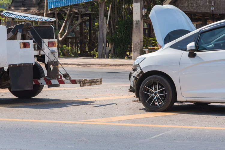 Accident Accident Car Broke Broken Rods Accidental Shot Attack Broken Broken Car Car Accident Car Accident Car Accident And A Crazy Day Cat Country Road Repair Car Repairing Road Transport Transportation