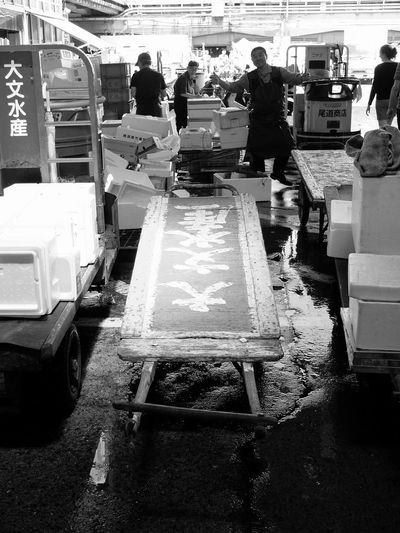 Mealtime Stomach Of Tokyo 築地 安斎さん The Moment - 2015 EyeEm Awards Light And Shadow On The Road Monocrome Monochrome Black And White Portrait