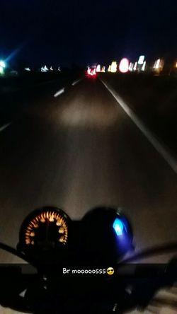 Illuminated Night Transportation Lifestyles Motorcycle Motorbike Outdoors City