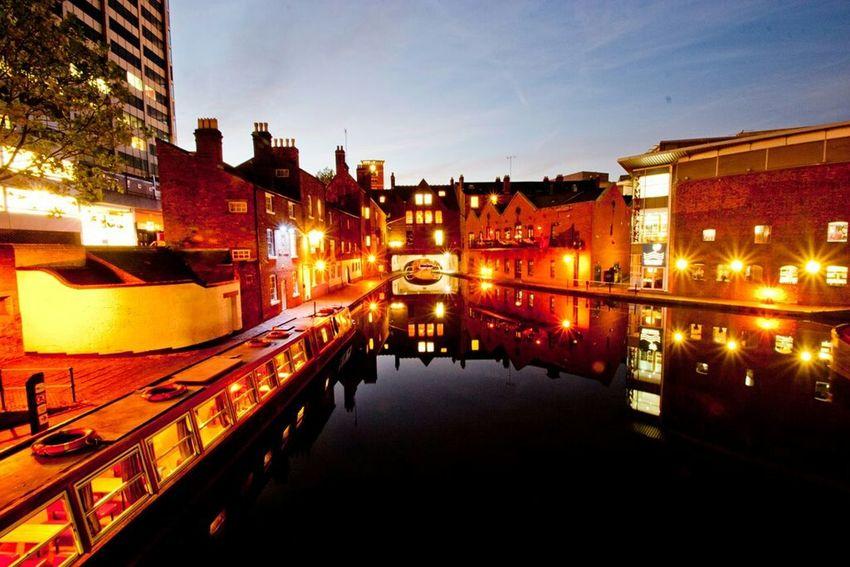 Birmingham Canal Basin Nightphotography Night Shots  Brindleyplace Gas Street