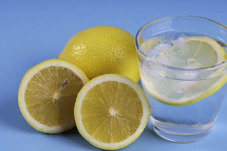 Close-up of drink against white background