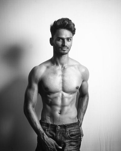 Only Men Shirtless One Man Only One Person Standing Strength People Studio Shot Muscular Build Portrait Macho Lifestyles Men Indoors  One Young Man Only Handsome Human Body Part Adults Only Adult Beard The Portraitist - 2017 EyeEm Awards