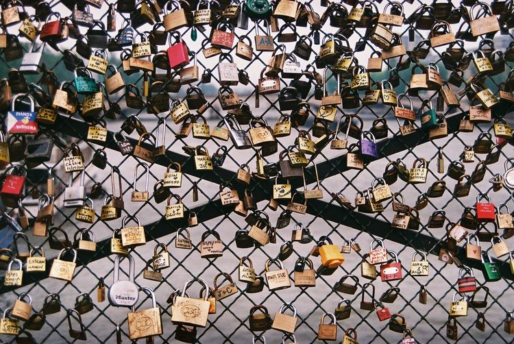 Abundance Backgrounds Close-up Full Frame Large Group Of Objects Lock Love No People Outdoors Padlock Paris Pattern Pattern Pieces Protection Repetition River Security Up Close Street Photography Feel The Journey Beautifully Organized