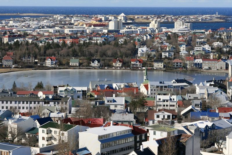 The city of Reykjavik Travel Travel Destinations Building Exterior Architecture Built Structure City Building Residential District Crowded Building Exterior Architecture Built Structure City Building Residential District Crowded Cityscape Day TOWNSCAPE Town