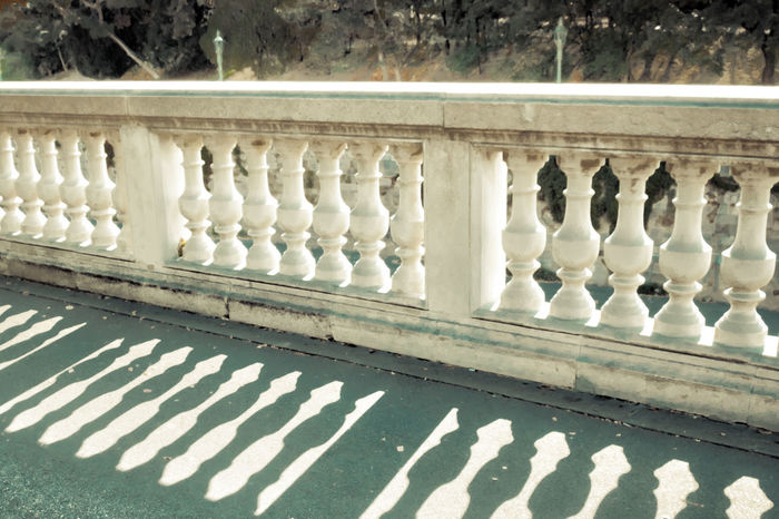 Classic Architecture Day Fence Indoors  No People Pillars Shadow Stone White Stone
