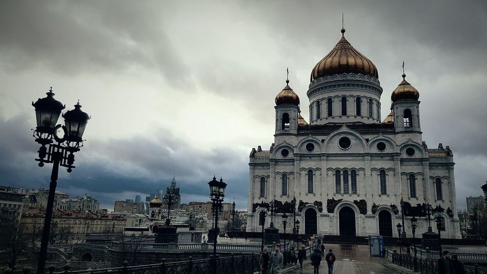 Orthodox Church Orthodox Spirituality Cathedral Russia Moscow Cathedral Of Christ The Savior Building Exterior Dome Travel Destinations City Built Structure Architecture Cloud - Sky Sky