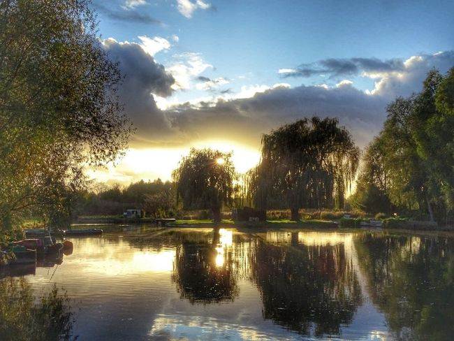 Reflection Water Nature Beauty In Nature Landscape Scenics Silhouette No People Sunset Lake Cloud - Sky Sky Tree Outdoors Day