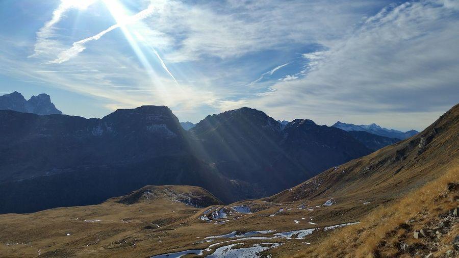 Mountains Winter Relax Nature Dolomiti Italy Passo San Pellegrino