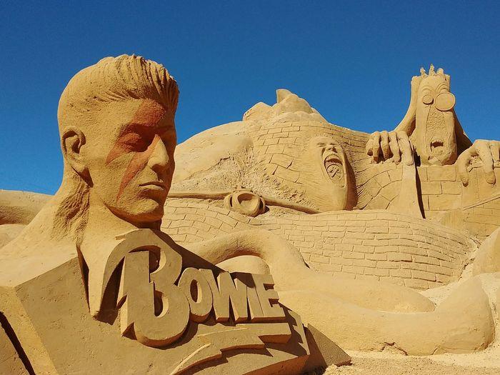 Bowie Sand Sculpture International Sand Sculpture Festival Pera, Algarve
