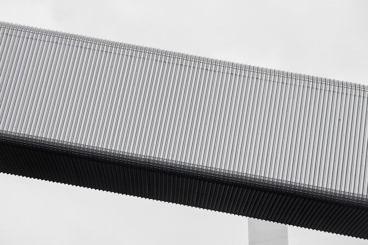 - THE TUBED CITY - Minimal Architecture Minimalism MnMl Berlin Check This Out The Graphic City Boxed Steel Cold Steel  Alluminium Tube Low Angle View Day Outdoors Pattern No People Built Structure Bridge - Man Made Structure Architecture Sky City Close-up