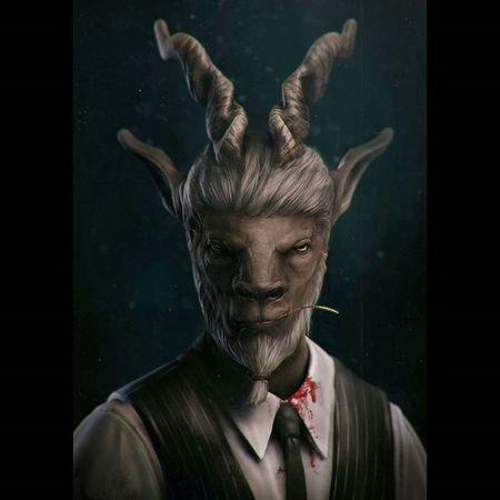 Goat Mafia Mobster Zbrush Goat Creature Conceptart Monster 3Dart