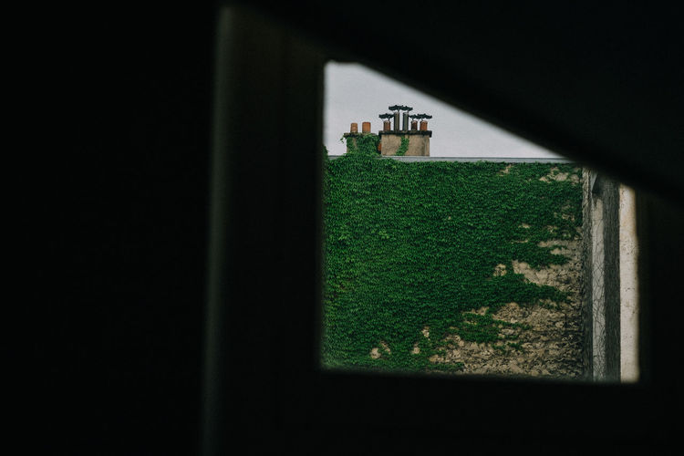Perspective The Street Photographer - 2018 EyeEm Awards Building Close-up Copy Space Dark Day Grass Green Color Hole No People Plant Sky Window