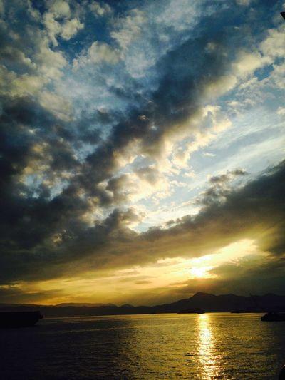 Sky Sunset 夕焼け 光の道