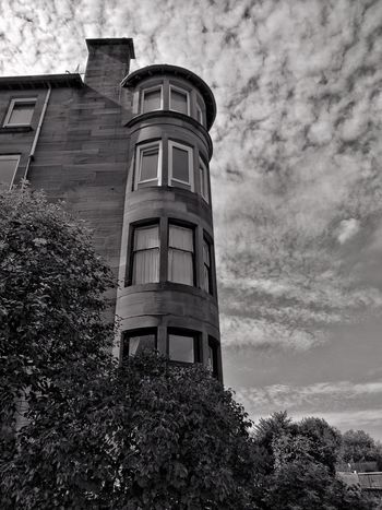Architecture Building Exterior Built Structure Low Angle View Day Outdoors No People Sky Blackandwhite Photography Clouds And Sky Tenements