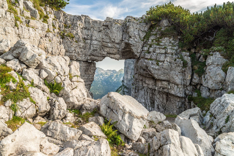Altaussee Austria Beauty In Nature Day Geology Loser Mountain Nature No People Outdoors Physical Geography Rock - Object Rock Formation Salzkammergut Scenics Sky Tranquility Water