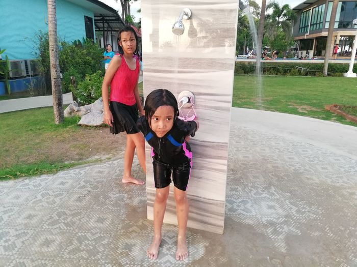 Children enjoy on summer trip 2019,หาดเจ้าหลาว Achi2019 Child Childhood Family Real People Full Length Females Women Togetherness Looking At Camera Girls Architecture Casual Clothing Leisure Activity Portrait Cute Two People Emotion Happiness Parent Innocence Positive Emotion Daughter Sister