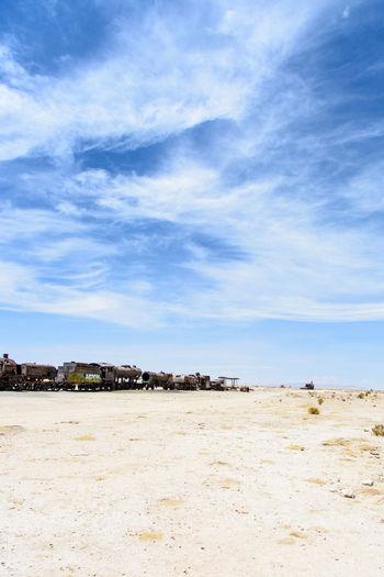 Bolivia Desert Travel Uyuni Abandoned Cloud - Sky No People Outdoors Sand Sky Train Travel Destinations The Traveler - 2018 EyeEm Awards
