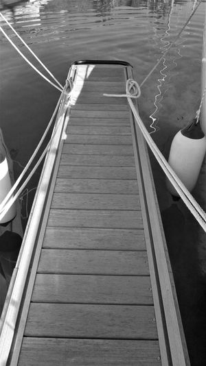 Narrow Black And White Flooring Journey Pontoon Finger Sea Teak Woo