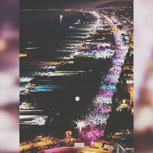 •la mejor fiesta de todo el mundo• Notte Rosa 2015  Rimini Pink! Fiestaaaaa Summer2015 Lots Of People Fun! Night Lights Beautiful View