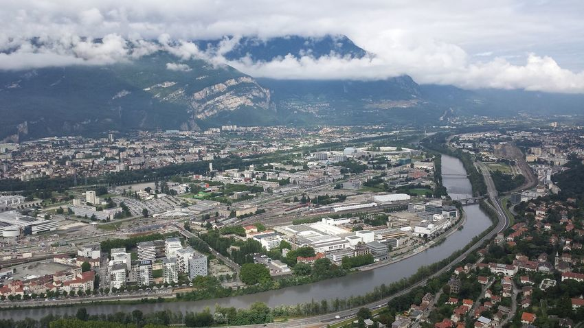 Grenoble In Grenoble Sky France Clouds And Sky River