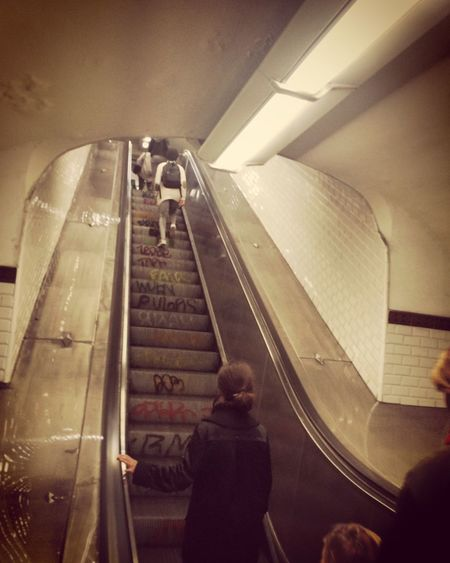 Real People Indoors  Transportation Passenger Public Transportation Lifestyles Women Rear View Leisure Activity Journey Subway Station Technology Men Travel Built Structure Illuminated One Person Convenience Architecture Subway Train Your Ticket To Europe