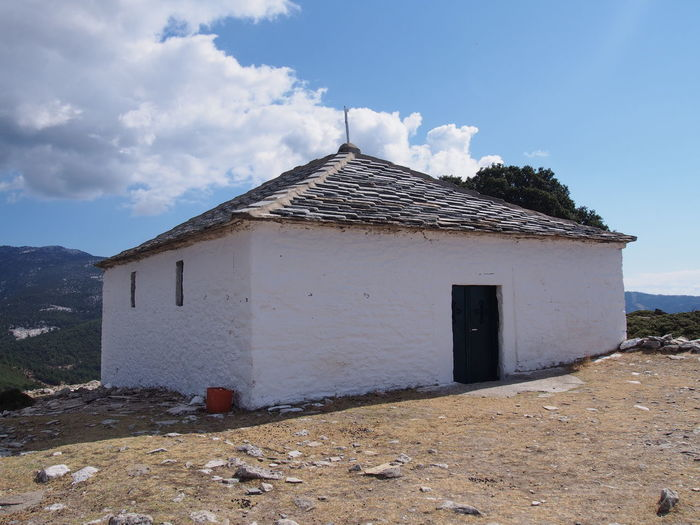 Katarzyna Dziemidowicz Architecture Cloud Holiday Monastery Thassos Travel Architecture Blue Building Building Exterior Built Structure Castro Cloud - Sky Day Greece Landscape Mountain Nature No People Outdoors Sky Stone Summer Sun White