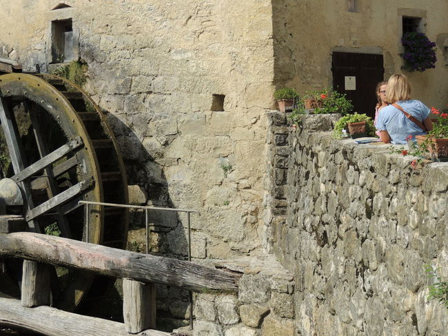 Molinetto Della Croda Ancient Architecture Building Exterior Built Structure Canon Day History Old Ruin One Person Outdoors People Real People Watermills Weapon