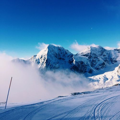 Snow Italy Skiing Mountains Nature Sulden Skiing Slopes